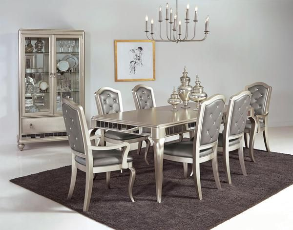 Diva Table W 6 Chairs Katy Furniture Dinning Table Set Dining Room Sets Dining Table Legs