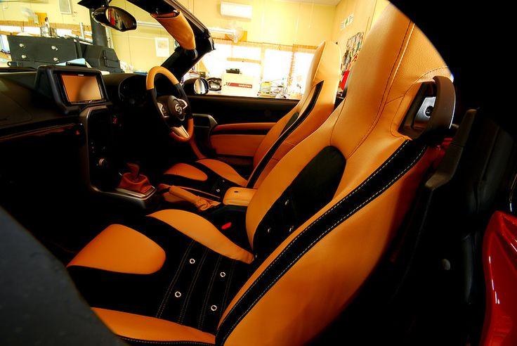 Daihatsu copen seat cover,door trim,steering retrim,shift knob, shift boots,sidebrake grip and boots