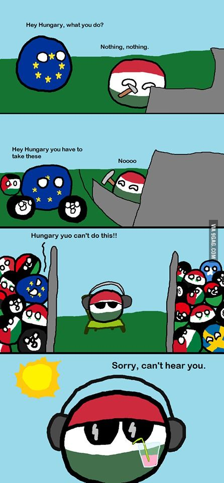 #justhungarianthings Countryball refugee crisis