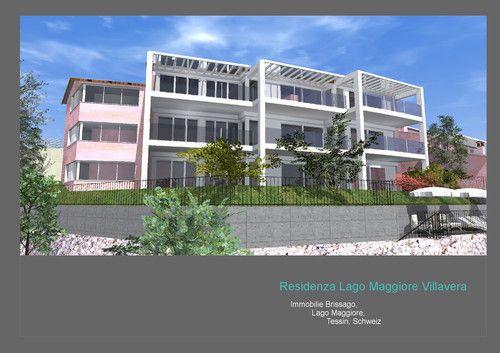 Neubau der Residenza Lago Maggiore in Brissago, Tessin Schweiz.