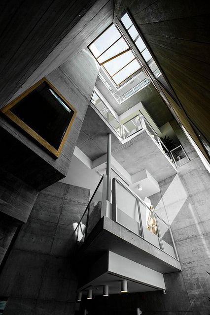 Contemporary architecture @ Universidad de #Vigo by Enric Miralles - Benedetta Tagliabue
