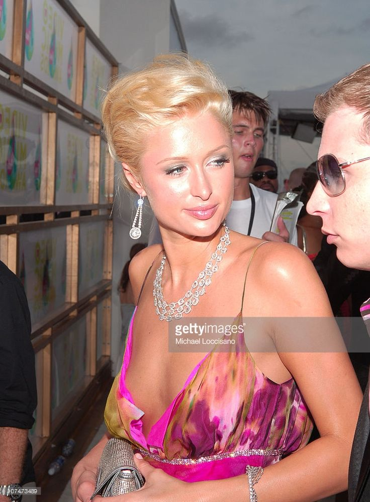 Paris Hilton during 2005 MTV Video Music Awards - MTV ShowBox at American Airlines Arena in Miami, Florida, United States.