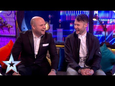 nice Stephen gets the goss from Calum and Danny | Semi-Final 5 | Britain's Got Talent 2015