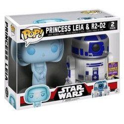 FIGURA POP PACK STAR WARS: RD-D2 AND LEIA HOLO, el mejor precio, Pack de 2 figuras Funko POP. R2-D2 y Leia Organa en versión holograma. Tamaño aproximado de cada figura 9 cm....
