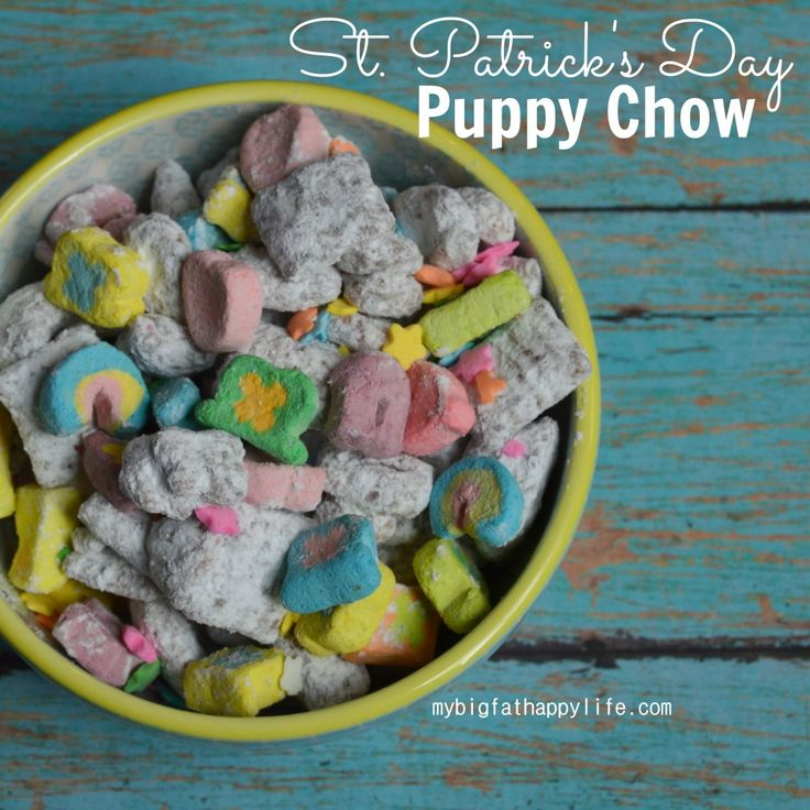 St. Patrick's Day Puppy Chow - My Big Fat Happy Life