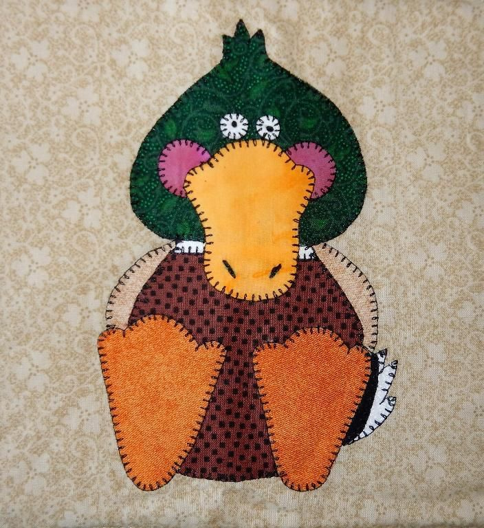 (7) Name: 'Quilting : Ducky Applique Block