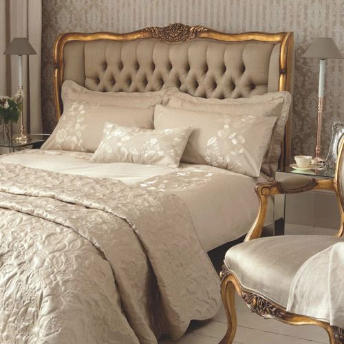Gold French Style Bed, luxurious bedroom : Beau Decor