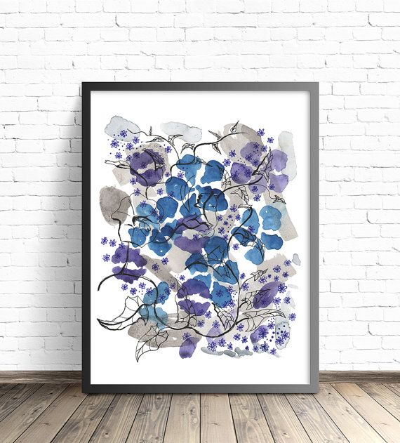 Floral Watercolor Print. Watercolor Flower poster. by DreamyMeisme