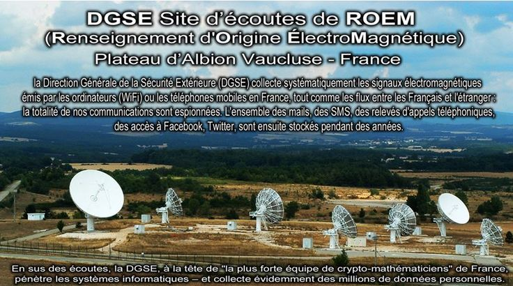 DGSE communications listening site, in Vaucluse (France)
