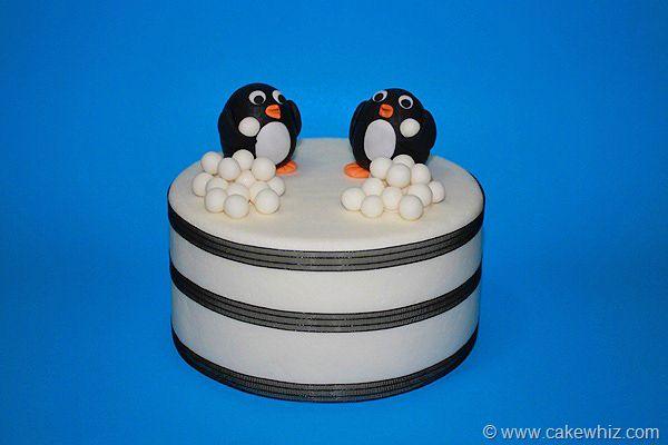 Snowman and penguin cake - Cakewhiz