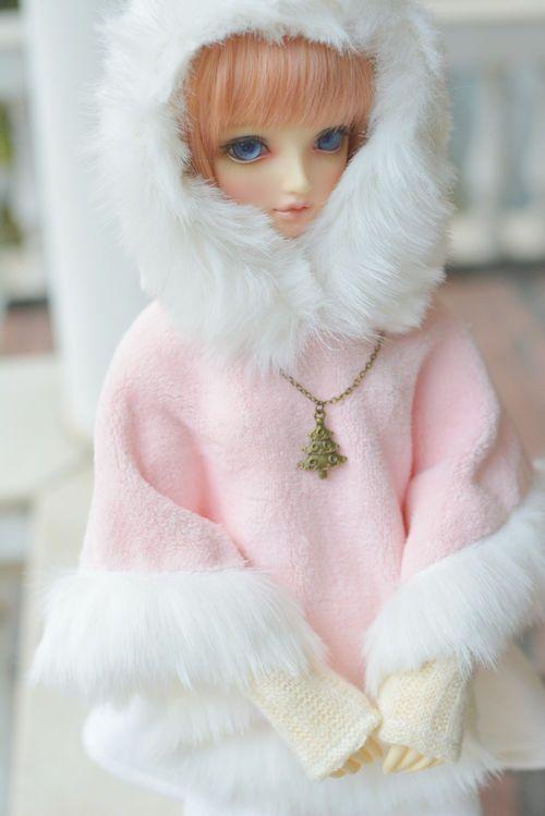 New Arrival Sweet Snow Sakura Pink Cloak//Coat For 1//3 SD10 BJD Doll Clothes cape