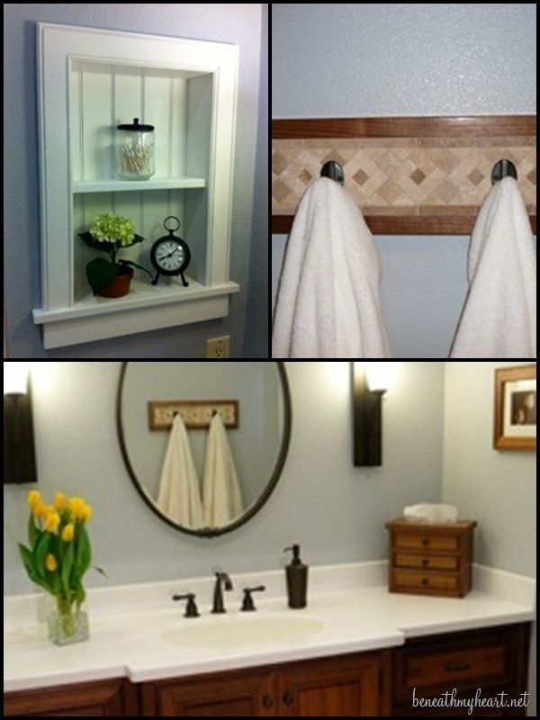 """Replace the medicine cabinet with shelves. """"Best DIY Projects"""" Highlights 