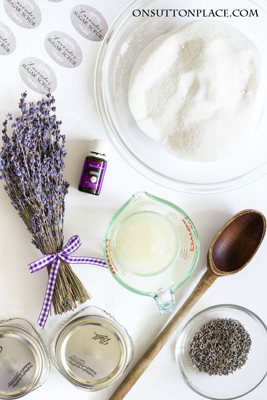 DIY Lavender Sugar Scrub | The perfect, 4 ingredient answer to dry hands and feet. Use any time to restore moisture and clear away dead skin. Easy and fast!