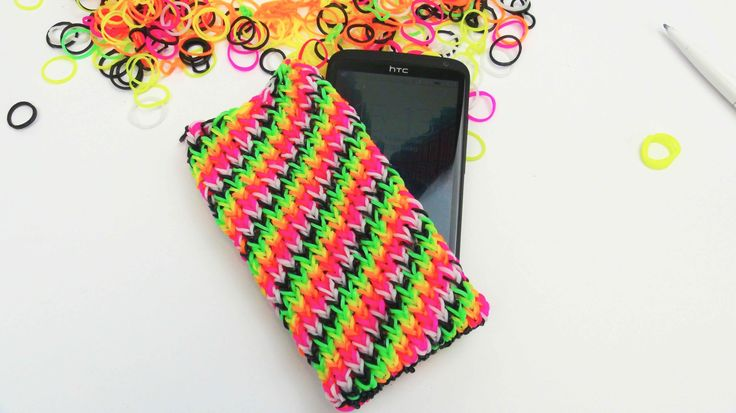 Loom Bands Handyhülle HTC ONE Smartphone Case with the Rainbow Loom Tuto...