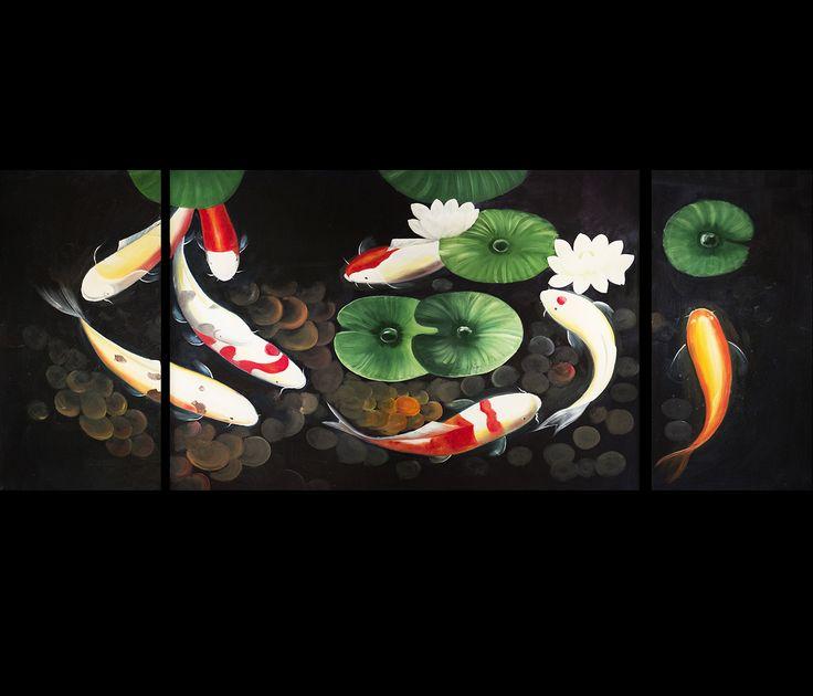 16 best koi fish paintings images on pinterest fish for Koi fish canvas art