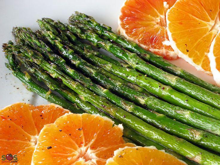 SOSCuisine: Roasted #Asparagus with #Oranges Very easy, heart and artery-healthy!