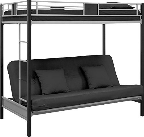 Dhp Screen Over Futon Metal Bunk Bed Silver Black