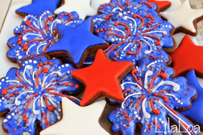 LilaLoa: Spectacular Fireworks Cookies | COOKIES | Pinterest