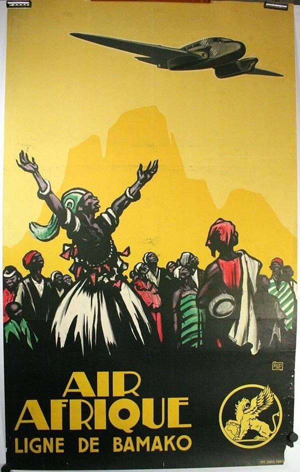 Air Afrique An original vintage Airline travel