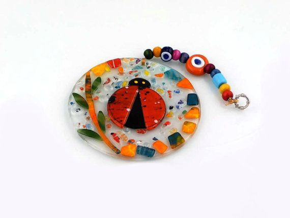 Wall Art home decor fused glass hand made by istanbulfuzyon
