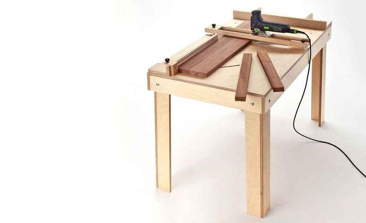 Dieser Sägetisch ist leicht nachzubauen und macht aus der Stichsäge eine vielseitige stationäre Werkstattsäge.