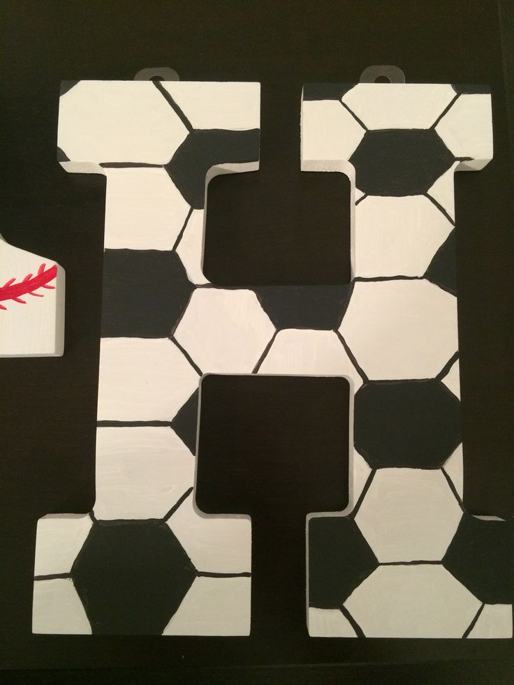 Soccer Ball Inspired Painted Letter Soccer Crafts