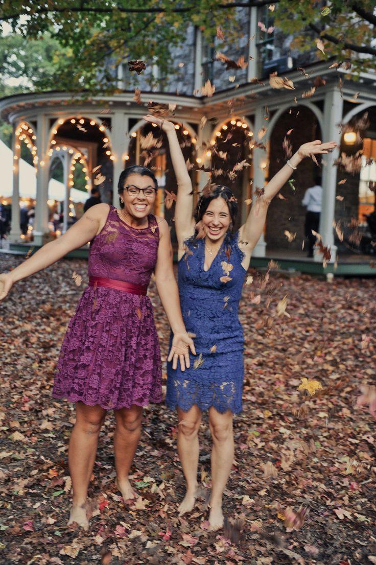 October wedding at Awbury Arboretum - photo credit: Alyssa Maloof Photography