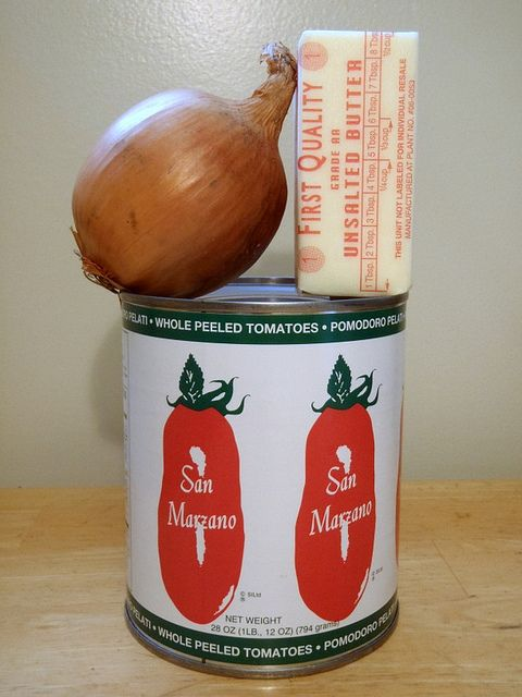 famous butter tomato sauce ! san marzano tomatoes can be bought @ A Mano Pasta in Ford City