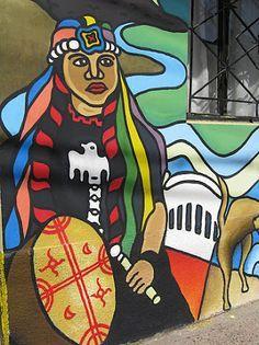 "Mapuche shaman or ""machi"" art."