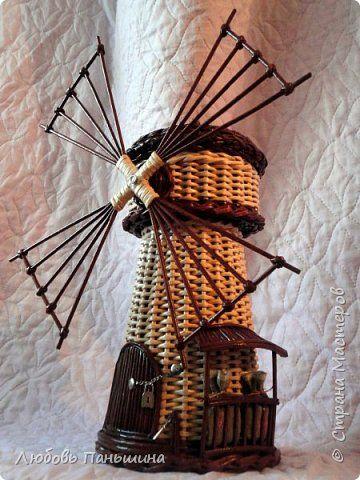 Поделка изделие Плетение Мастер-класс мельница-бар Бумага Трубочки бумажные фото 1