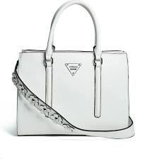 GUESS Factory Women's Beachmont Satchel - ONE - White