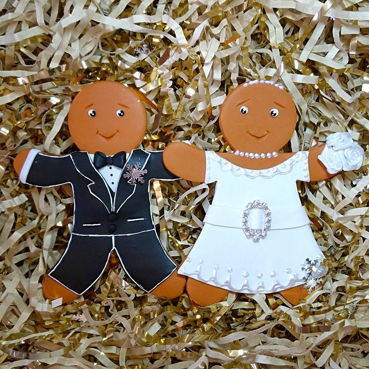 Gingerbread Bride and Groom Cake Toppers Gingerbread Wedding Cake Toppers