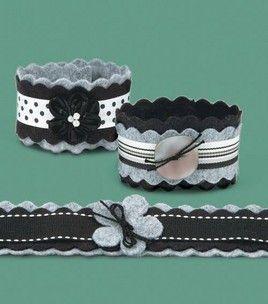 Embellished Felt Bracelets: jewelry & beading: Shop | Joann.com