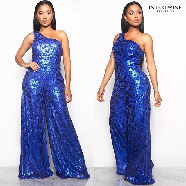 """642906b0d5e INTERTWINE COLLECTION™ on Instagram  """"Just dropping NEW ARRIVALS 🔥😍 Our  new """" FRONT ROW SEQUIN JUMPSUIT - BLUE (CUSTOM)"""" is now AVAILABLE ✨💙 Click  the ..."""