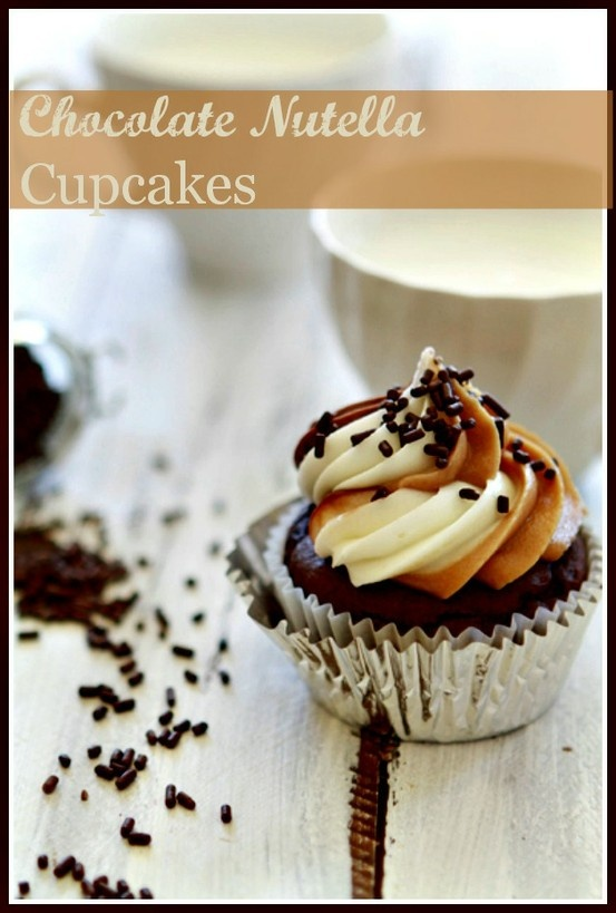 ... Cupcakes with Nutella, Almond Butter and Vanilla Cream Cheese Frosting