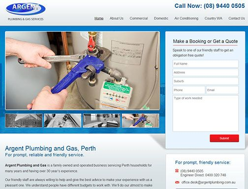Argent Plumbing & Gas Domestic Services For prompt, reliable and friendly service.