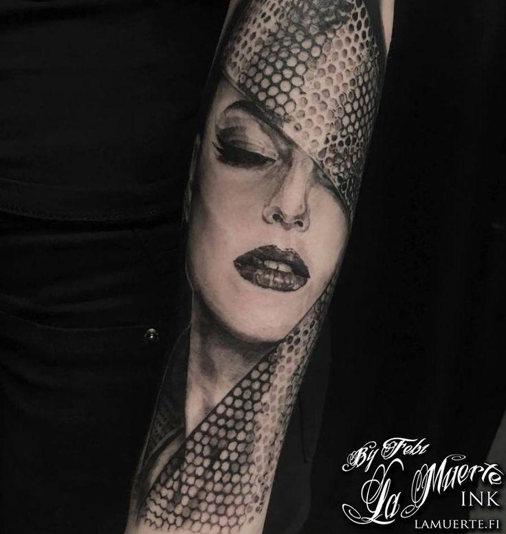 Woman tattoo by Febianto Eskelinen @ La Muerte Ink