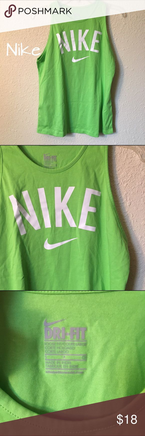 Nike tank top Green Nike tank top in excellent condition! Nike Tops Tank Tops