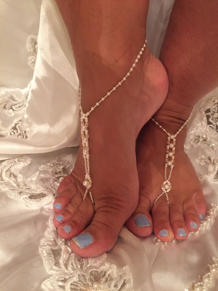 A personal favorite from my Etsy shop https://www.etsy.com/listing/238874717/barefoot-wedding-sandals-barefoot