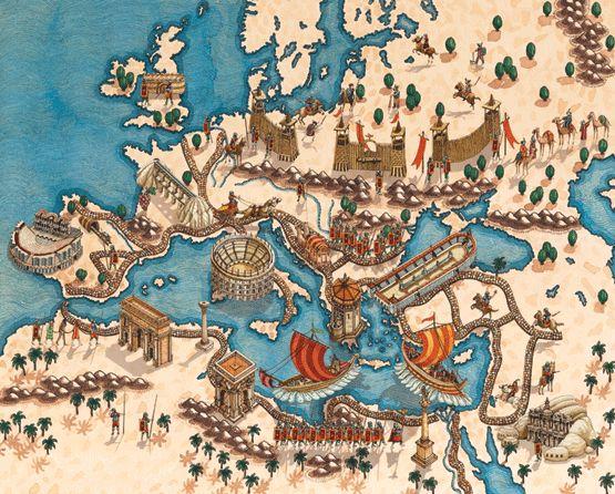 Mapa Ilustrado Imperio Romano
