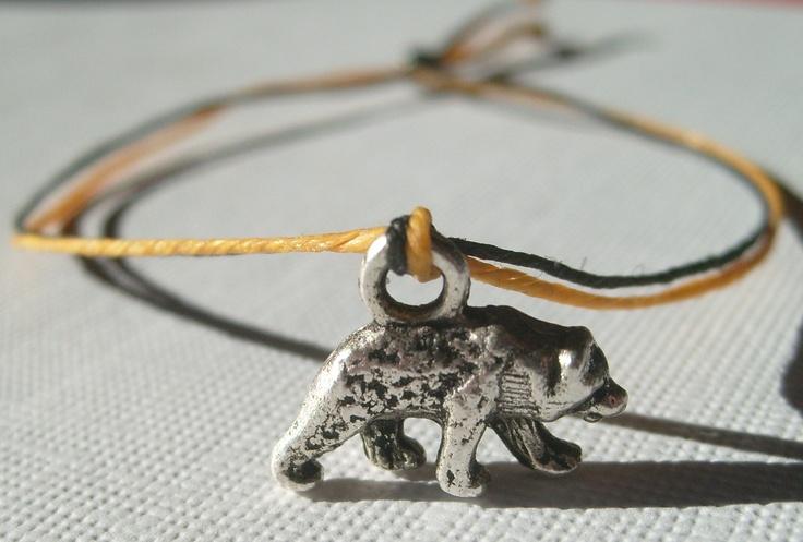 BOSTON BRUINS Hockey Team Pride Linen Charm Bracelet black and gold. $10.00, via Etsy.