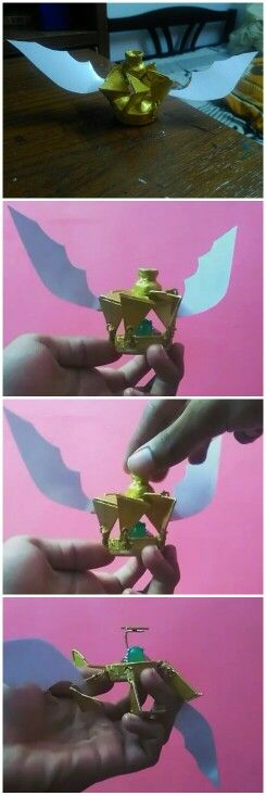 The Modified Snitch :)  For Harry Potter Fans!  #diy #original_idea #harrypotter #snitch