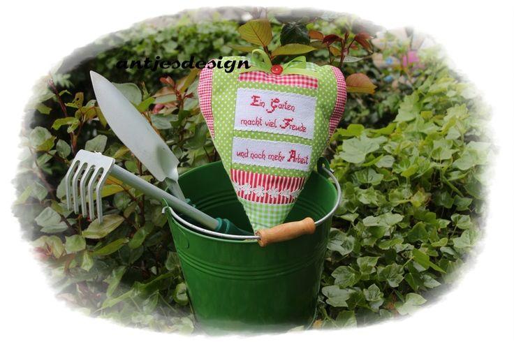 Gärnter - Gartenfan - Geldgeschenk -Herz - Spruch  von Antjes Design auf DaWanda.com
