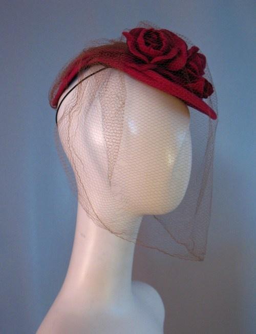 1940s Tilt Dolly Hat