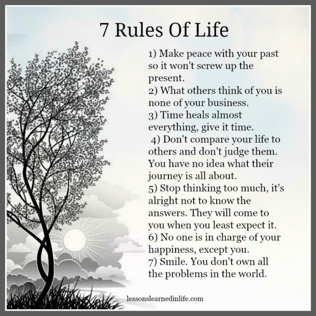 Lessons Learned in Life | 7 Rules of life.