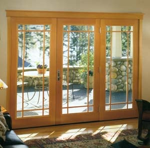 For The Breakfast Opening On To The Porch. 3 Panel French Patio Door.