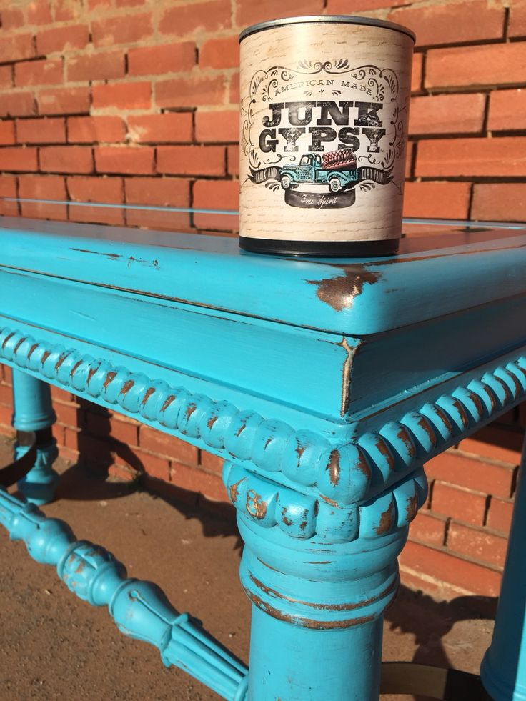 Over Sized Sofa Table Distressed In Junk Gypsy Free Spirit.