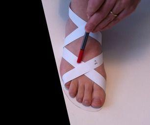 Se muestra como hacer una sandalia desde cero. Parte 1ª