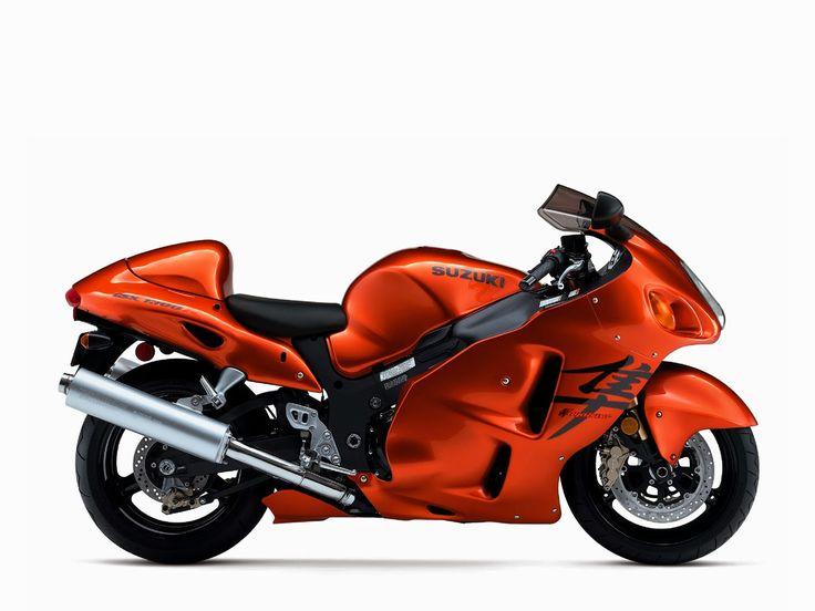 Orange Motorcycle Suzuki Hayabusa GSX 1300 R. Sexy Bike I Swear!
