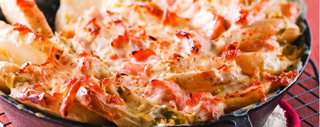 Tartiflette au saumon et poireaux - Complèment poireau